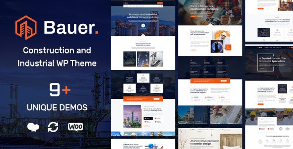 Bauer | Construction and Industrial WordPress Theme - Business Corporate