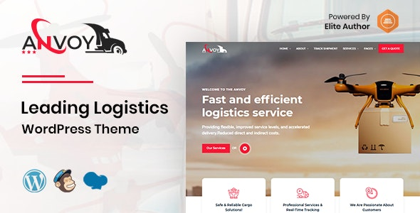 Anvoy -  Logistics WordPress Theme - Corporate WordPress