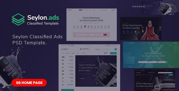Seylon - Classified Ads PSD Template. - Corporate Photoshop