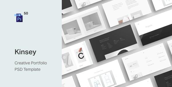 Kinsey – Creative Portfolio PSD Template - Portfolio Creative