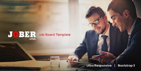 Jober - Elegant Job Board Template - Business Corporate