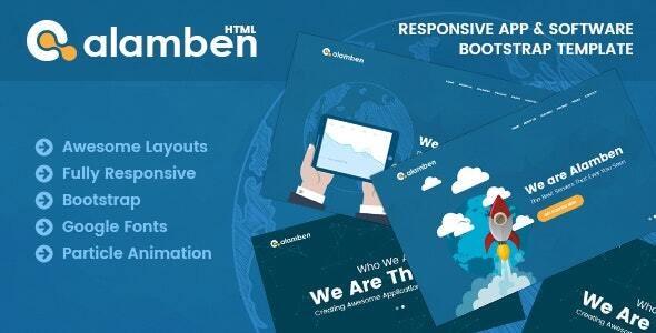 Alamben -  Responsive App & Software Bootstrap Template - Technology Site Templates
