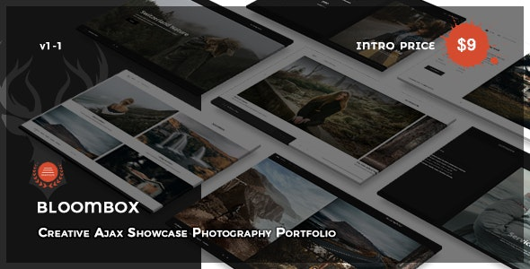 Bloombox - Creative Ajax Showcase Photography Portfolio - Photography Creative