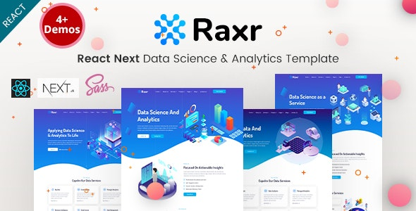 Raxr - React Next Data Science & Analytics Template - Corporate Site Templates