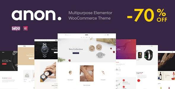 Anon - Multipurpose Elementor WooCommerce Themes - WooCommerce eCommerce