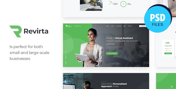Revirta | Personal Virtual Assistant & Secretary PSD Template - Business Corporate