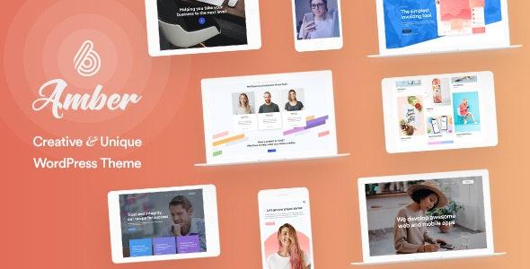 Amber Six | Creative and Multipurpose WordPress Theme - Creative WordPress