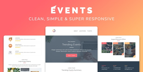 Events Responsive Multipurpose Email Template - Newsletters Email Templates