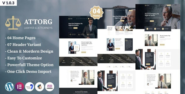 Attorg - Attorney WordPress Theme - Business Corporate