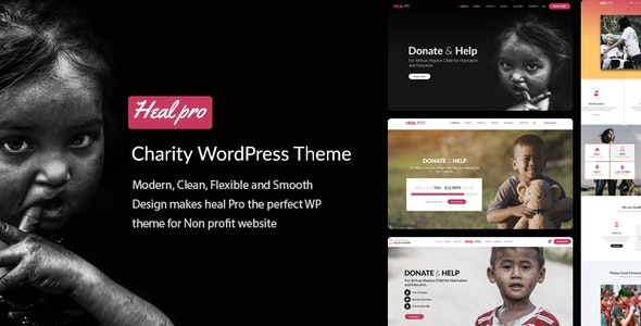 Heal Pro- Multipurpose Charity WordPress Theme - Charity Nonprofit