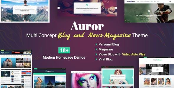 Auror- Blog Magazine WordPress Theme