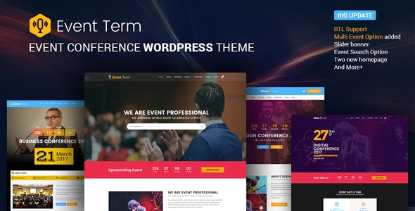 Event Term- Multiple Conference WordPress Theme - Events Entertainment