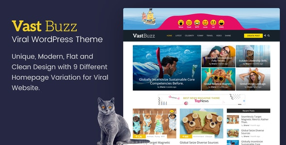 Vast Buzz - Viral Magazine WordPress Theme - News / Editorial Blog / Magazine