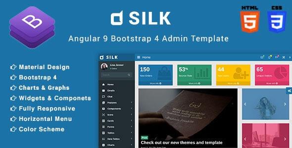Silk - Angular 9 Admin Template - Admin Templates Site Templates