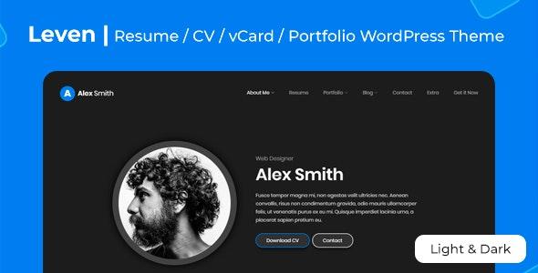 Leven   CV/Resume Theme - Portfolio Creative
