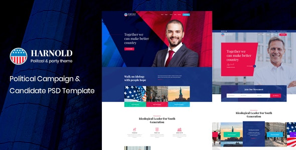 Harnold - Political PSD Template - Political Nonprofit