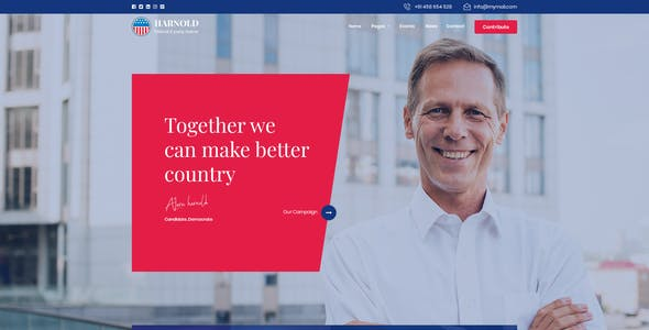 Harnold - Political PSD Template