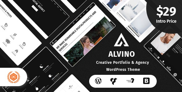Alvino - Creative Agency & Digital Studio WordPress Theme - Creative WordPress