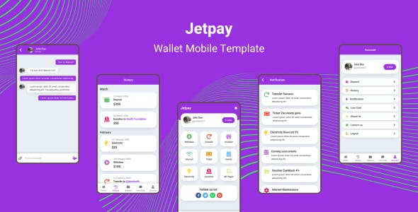 Download Jetpay - Wallet Mobile Template