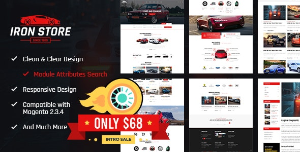 Ironstore - Best Magento 2 Auto Parts Theme - Magento eCommerce