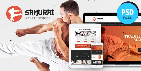 Samurai | Karate School and Fitness Center PSD Template - Health & Beauty Retail