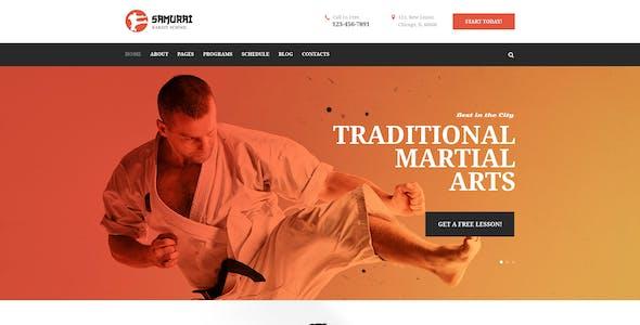 Samurai | Karate School and Fitness Center PSD Template