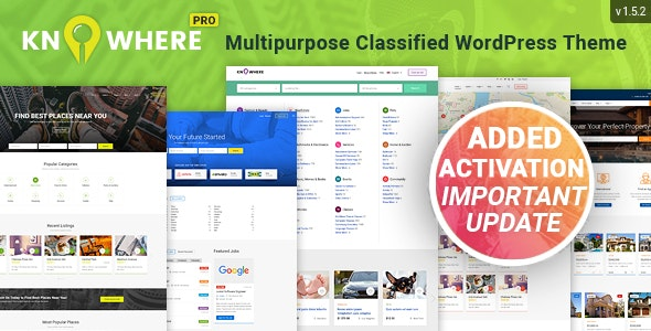 Knowhere Pro - Multipurpose Classified Directory WordPress Theme - Directory & Listings Corporate