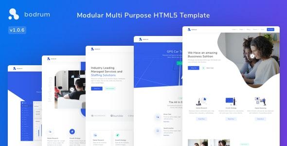 Bodrum - Modular Multi Purpose HTML5 Template - Technology Site Templates