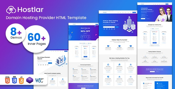 Hostlar – Domain Hosting Provider and Technology HTML Template - Hosting Technology