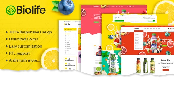 Biolife - Organic Food Magento 2 Theme | RTL Supported - Shopping Magento