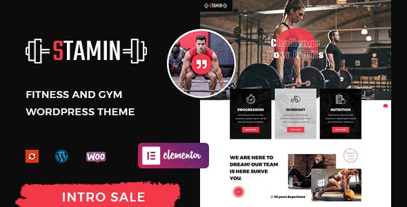 Stamin - Fitness and Gym WordPress Theme - Miscellaneous WordPress