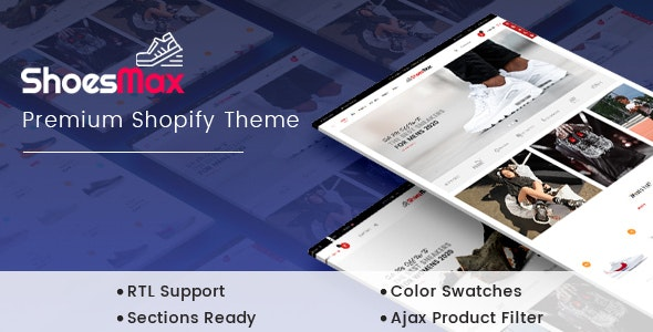 ShoesMax - Minimal Shoes Store Shopify Sections Theme - Shopify eCommerce