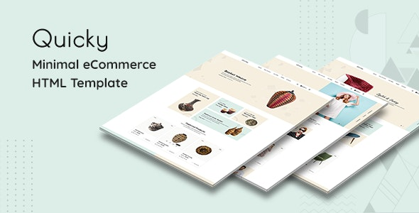 Quicky - Minimal eCommerce HTML Template - Shopping Retail
