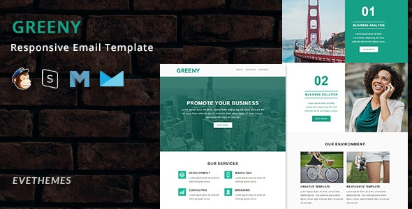 Greeny - Responsive Email Template - Newsletters Email Templates
