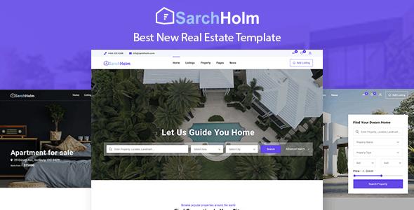 SarchHolm - Real Estate HTML Template