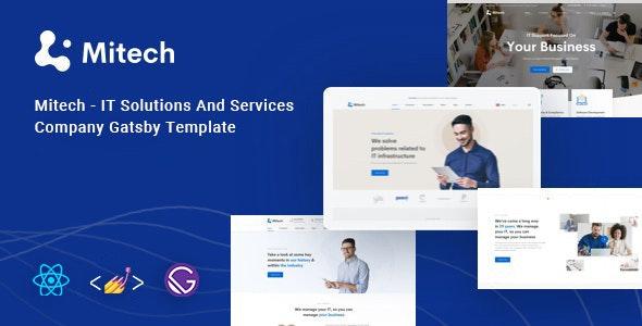 Mitech - React Gatsby Technology & Blog Template - Software Technology