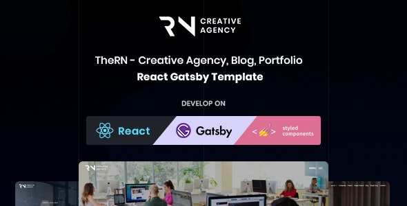 React Gatsby Creative Agency, React Gatsby Portfolio and React Gatsby Blog Template - TheRN - Portfolio Creative