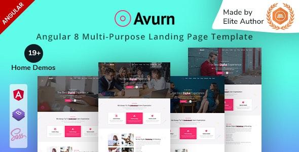 Avurn | Angular Multi-Purpose Landing Page Template - Portfolio Creative