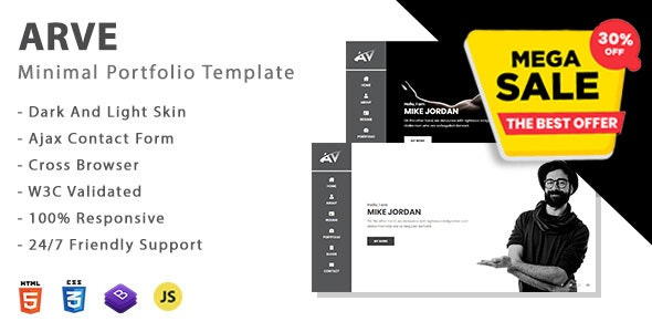 Arve - Personal Portfolio Template - Personal Site Templates
