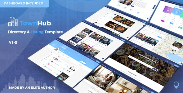 Townhub - Directory Listing Template - Business Corporate
