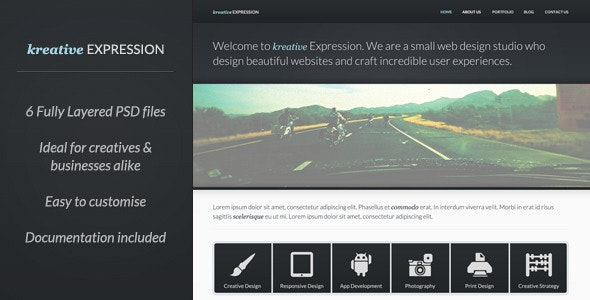 Kreative Expression - Creative PSD Template - Creative Photoshop