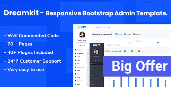 Dreamkit Responsive Bootstrap Admin Template