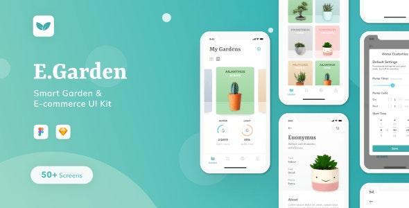 EGarden - Smart Garden Management App UI KIT - Sketch Templates