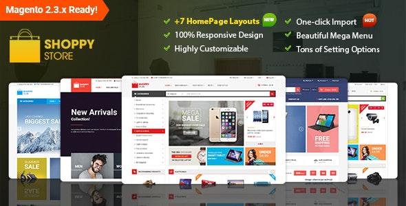 Shoppy Store - Responsive Magento 2 and 1.9 Theme - Shopping Magento