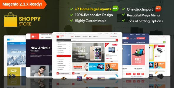 Shoppy Store - Responsive Magento 2 and 1.9 Theme by magentech | ThemeForest