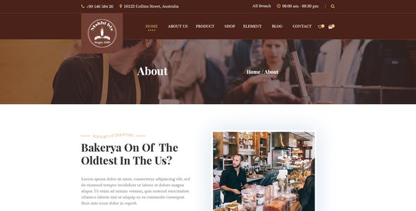 Makhbiz - Bakery, Cake and Pastry Shop PSD Template