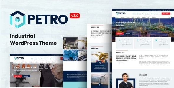 Petro - Industrial Company WordPress Theme - Business Corporate