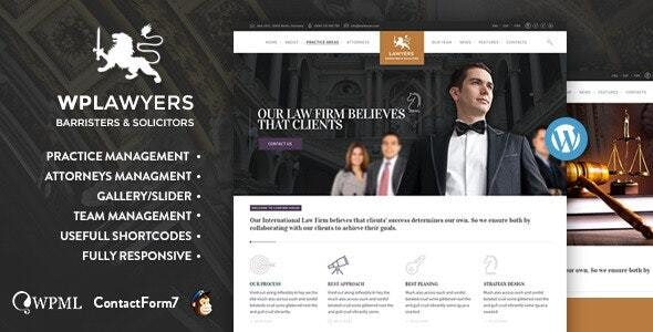 Lawyers  | Attorneys WordPress Theme - Business Corporate