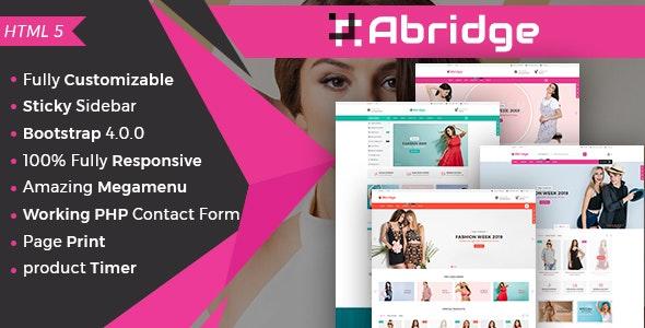 Abridge- Responsive Multipurpose E-Commerce HTML5 Template - Retail Site Templates