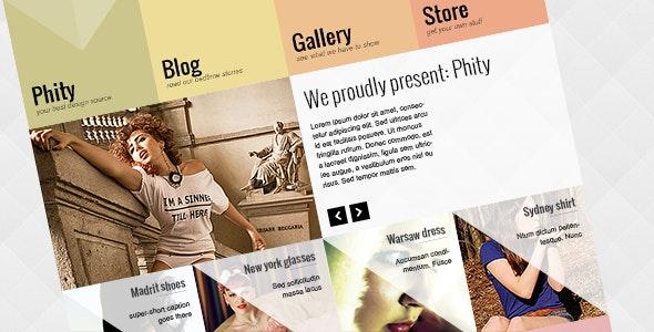 Phity psd theme - Fashion Retail